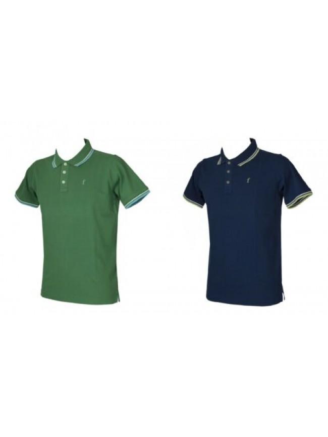 SG Polo uomo maglia manica corta con colletto e bottoni FERRANTE articolo I35601