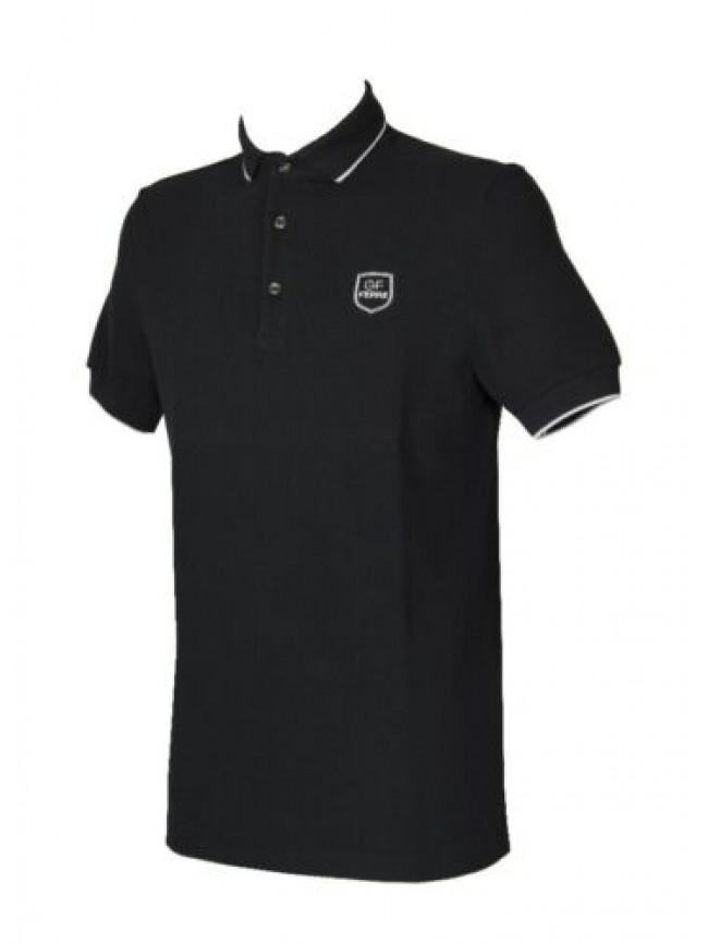 SG Polo uomo maglia manica corta con colletto e bottoni GIANFRANCO FERRE' artico