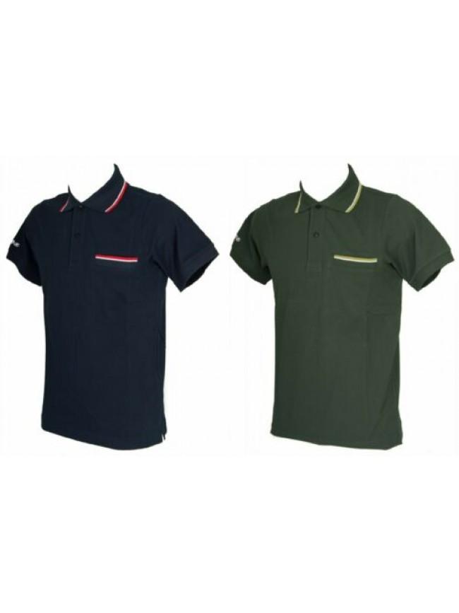 SG Polo uomo manica corta t-shirt colletto bottoni cotone KEY-UP articolo 2827Q