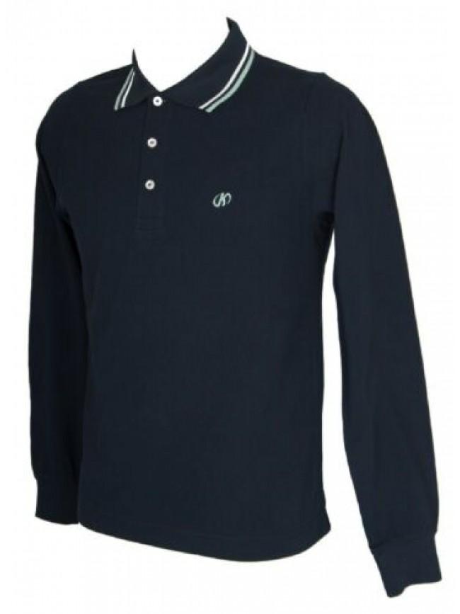 SG Polo uomo manica lunga maglia colletto bottoni cotone KEY-UP articolo 2723Q