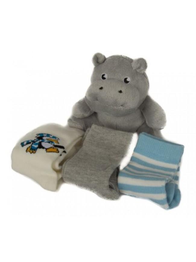 SG Scatola kit regalo 3 paia calzettoni + pelouches baby neonato CIOCCA articolo