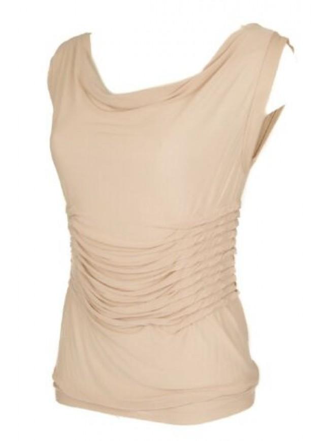 SG Smanicato con drapage t-shirt maglietta donna senza maniche elegante MAX MARA