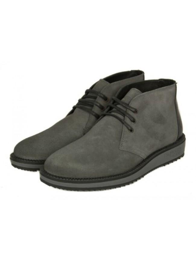 SG Stivaletti stivali scarpe uomo pelle scamosciata suola in gomma TRUSSARDI JEA