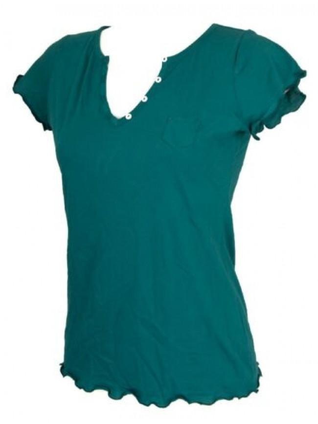 SG T-shirt donna manica corta scollo V cotone RAGNO articolo 078408 FREESTYLE MC