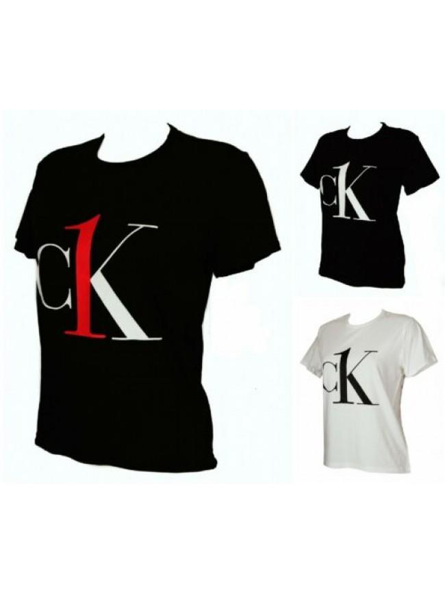 SG T-shirt maglietta donna manica corta girocollo cotone CK CALVIN KLEIN articol