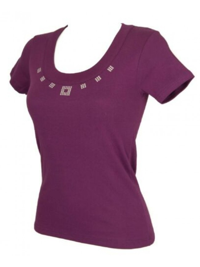 SG T-shirt maglietta donna manica corta girocollo cotone RAGNO articolo 078217