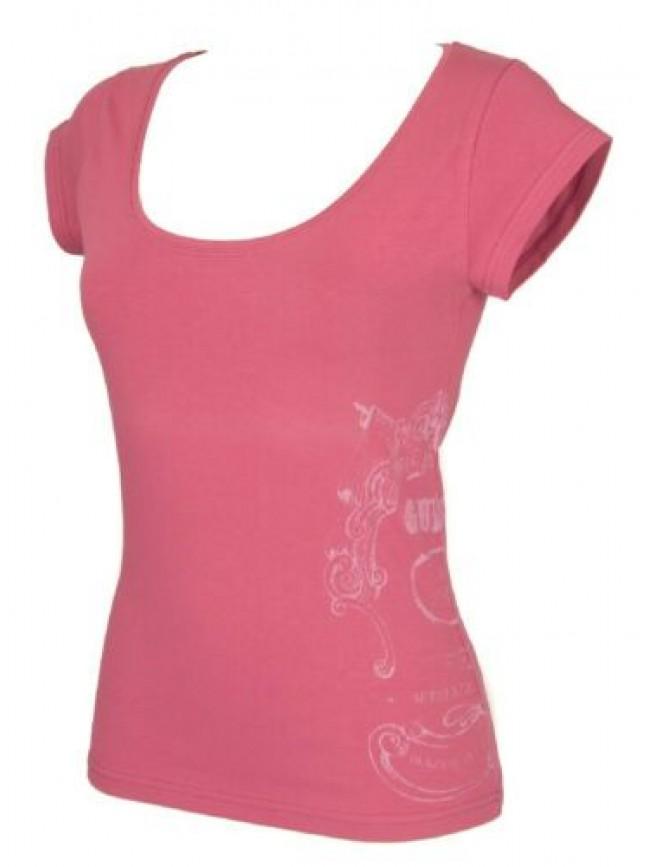 SG T-shirt maglietta donna manica corta girocollo cotone strech GUESS articolo U