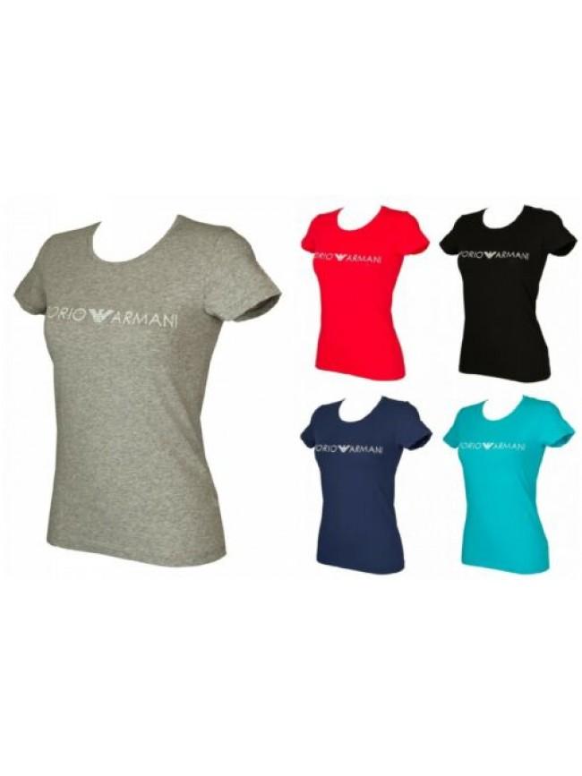 SG T-shirt maglietta donna manica corta girocollo cotone stretch EMPORIO ARMANI