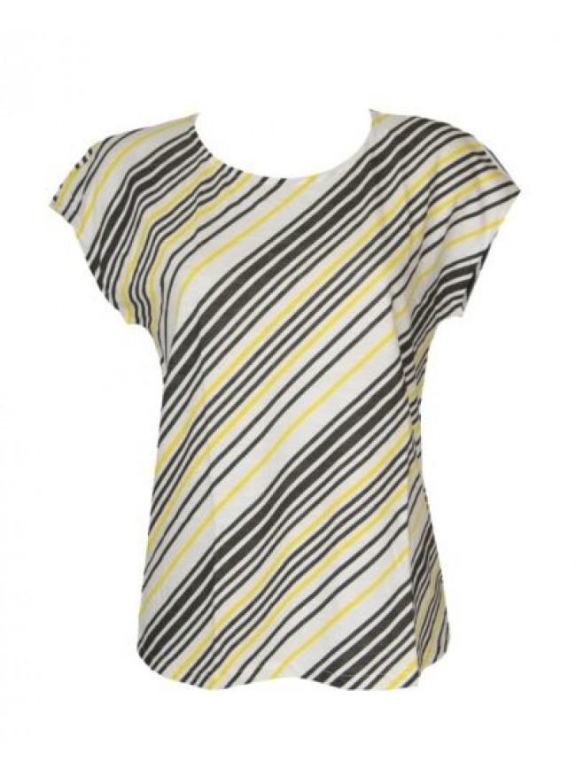 SG T-shirt maglietta donna manica corta ricalata girocollo cotone RAGNO articolo