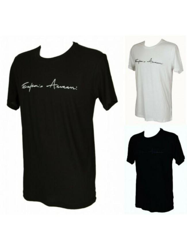 SG T-shirt maglietta uomo girocollo manica corta in lino e cotone EMPORIO ARMANI