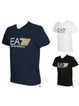SG T-shirt manica corta maglietta uomo scollo V cotone EA7 EMPORIO ARMANI artico