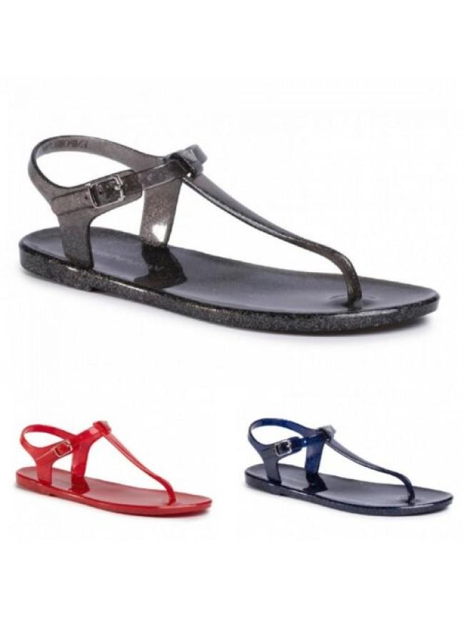 Sandalo infradito in gomma mare o piscina EMPORIO ARMANI articolo X3QS06 XL816 F