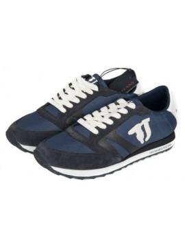 Scarpe uomo sneaker TRUSSARDI JEANS articolo 77S605 RUNNING LOGO GOMMATO