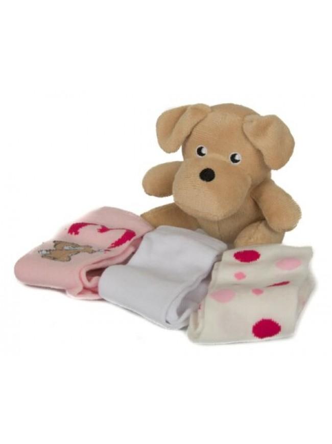 Scatola kit regalo 3 paia calzettoni + pelouches baby neonata CIOCCA articolo 3/