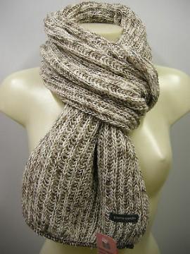 Sciarpa donna scarf woman PIERRE CARDIN a.LUREX c.4 oro beige gold Italy