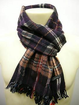 Sciarpa lana scarf wool unisex PIERRE CARDIN JC3195 P001 col.3 melanzana Italy
