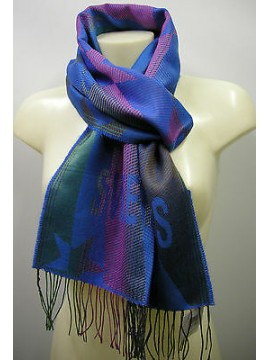 Sciarpa scarf SWEET YEARS art.JC3650 colore 8 royal Italy