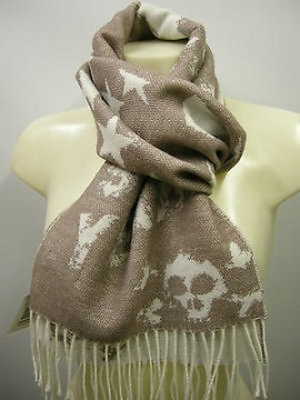 Sciarpa scarf SWEET YEARS art.JC3726 colore 2 avana teschio skull Italy
