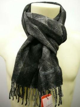 Sciarpa scarf unisex PIERRE CARDIN art.JC2963 P001 col.12 nero black Italy