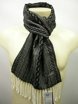 Sciarpa scarf unisex PIERRE CARDIN art.JC3123 P001 col.17 antracite Italy