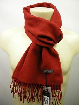 Sciarpa scarf unisex PIERRE CARDIN art.ROMA P001 col.167 ciliegia cherry Italy