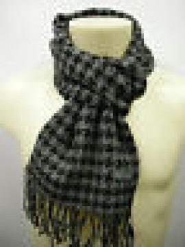 Sciarpa scarf uomo PIERRE CARDIN a.POULE P001 c.3 grigio nero Italy