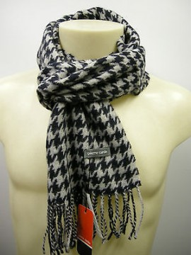 Sciarpa scarf uomo PIERRE CARDIN a.POULE P001 c.9 perla blu perblu Italy