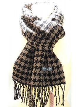 Sciarpa scarf uomo PIERRE CARDIN a.POULE P001 col.5 nocciola/nero Italy