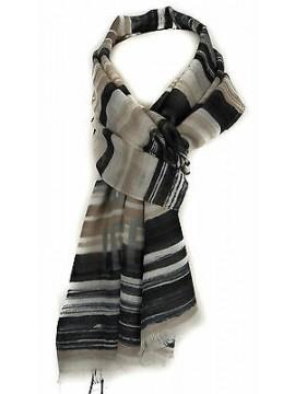 Sciarpa unisex scarf GUESS articolo AM8204 cm.175x60 colore BLA NERO BLACK