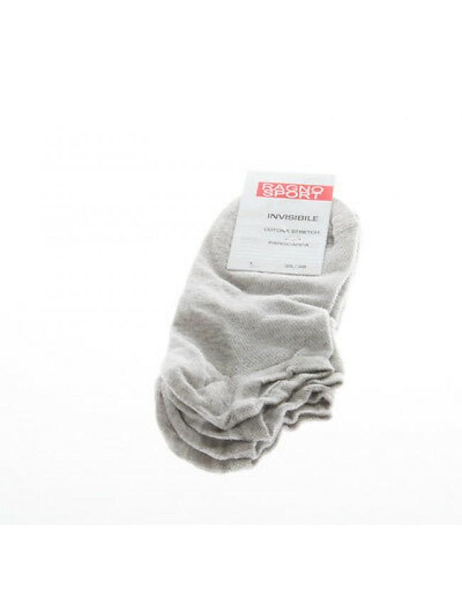 Set 2 calza invisibile calzino pariscarpa RAGNO 09093P taglia 35/38 col.GRIGIO