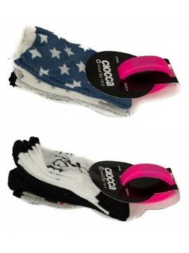 Set 3 paia calze calzini femmina ragazza con orologio a led CIOCCA articolo 831/