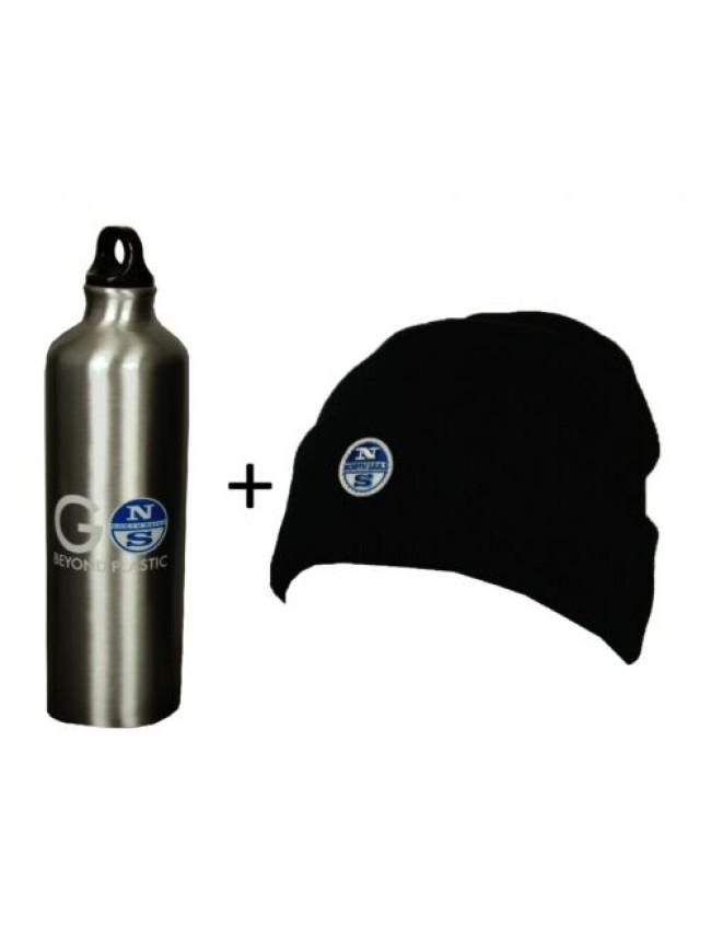 Set cappello + borraccia cuffia uomo con bottiglia NORTH SAILS articolo 623105 B