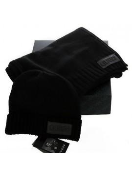 Set idea regalo cappello sciarpa hat scarf GUESS a.AMGIF1 T.M c.NERO