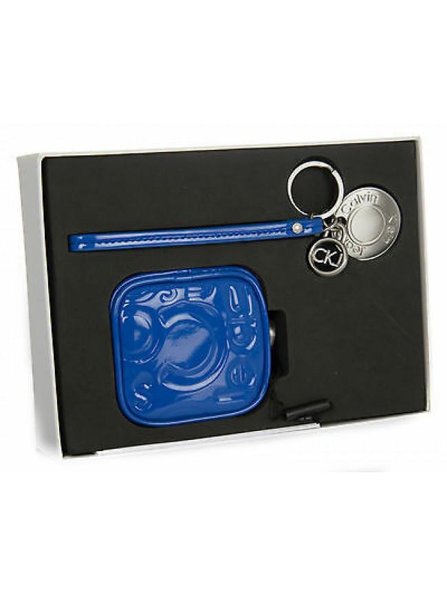 Set portamonete portachiavi CK CALVIN KLEIN JEANS a.CSY600 c.681 EL BLUE