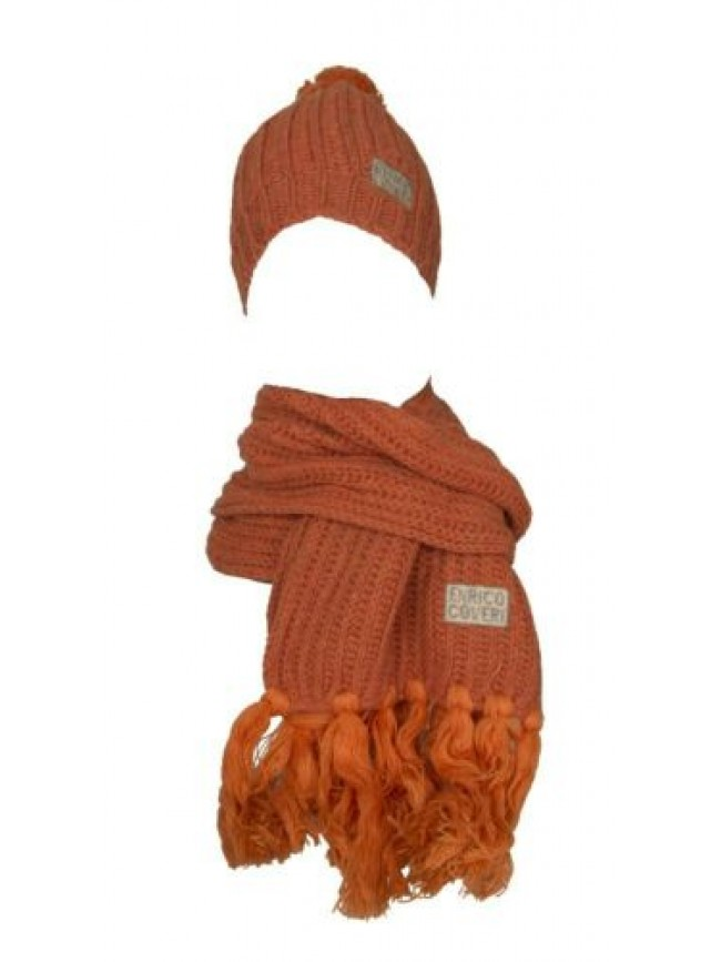 Set sciarpa + cappello berretto donna ENRICO COVERI articolo 26915 made in ITALY