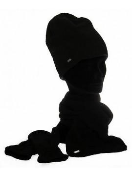 Set sciarpa cappello guanti pile bimbo bimba LOTTO art. N4217 colore NERO BLACK