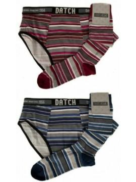 Set slip + 1 paio calze lunghe uomo calzini alti underwear DATCH articolo CDM004
