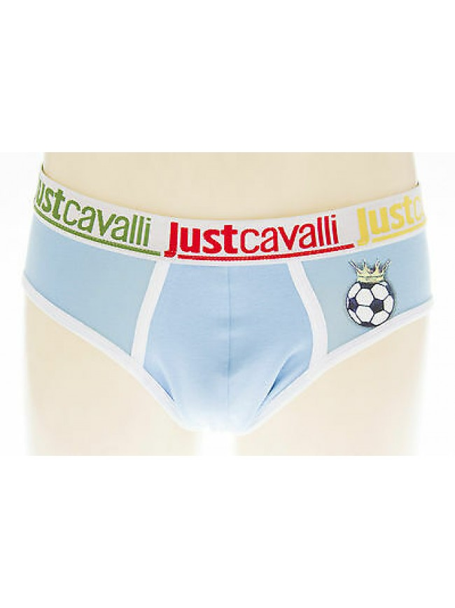 Slip mutanda uomo football JUST CAVALLI art.B0900 T.S/3 col.2935C BLUETTE
