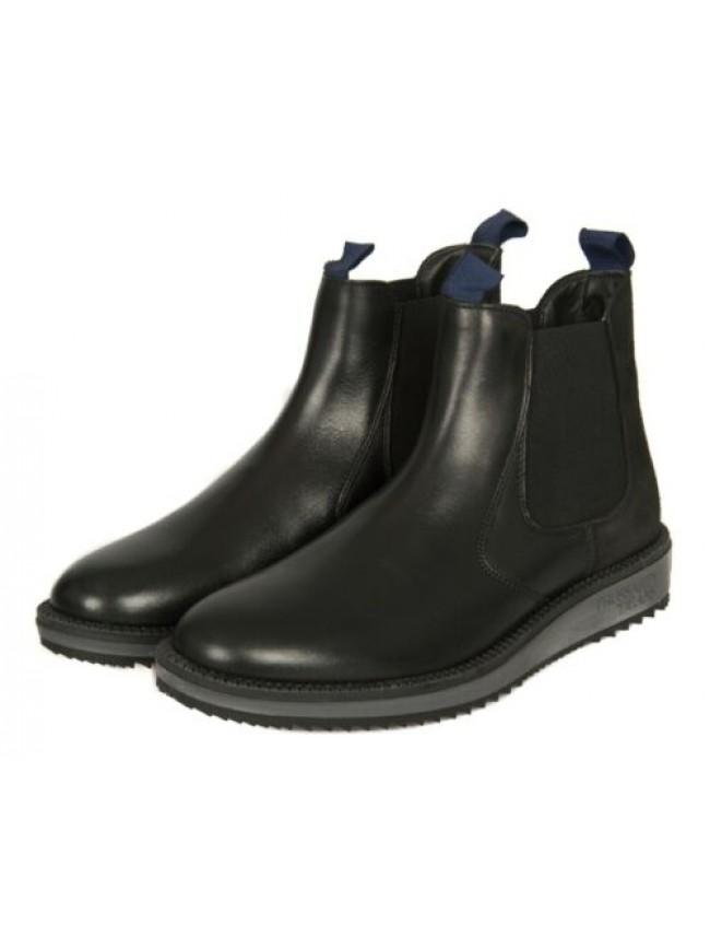 Stivaletti stivali scarpe uomo pelle suola in gomma TRUSSARDI JEANS articolo 77A