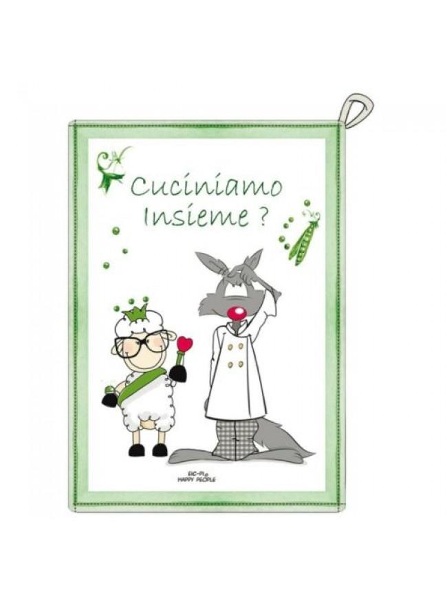Strofinaccio cucina canovaccio 50X70 cm cotone HAPPY PEOPLE articolo KA08300101