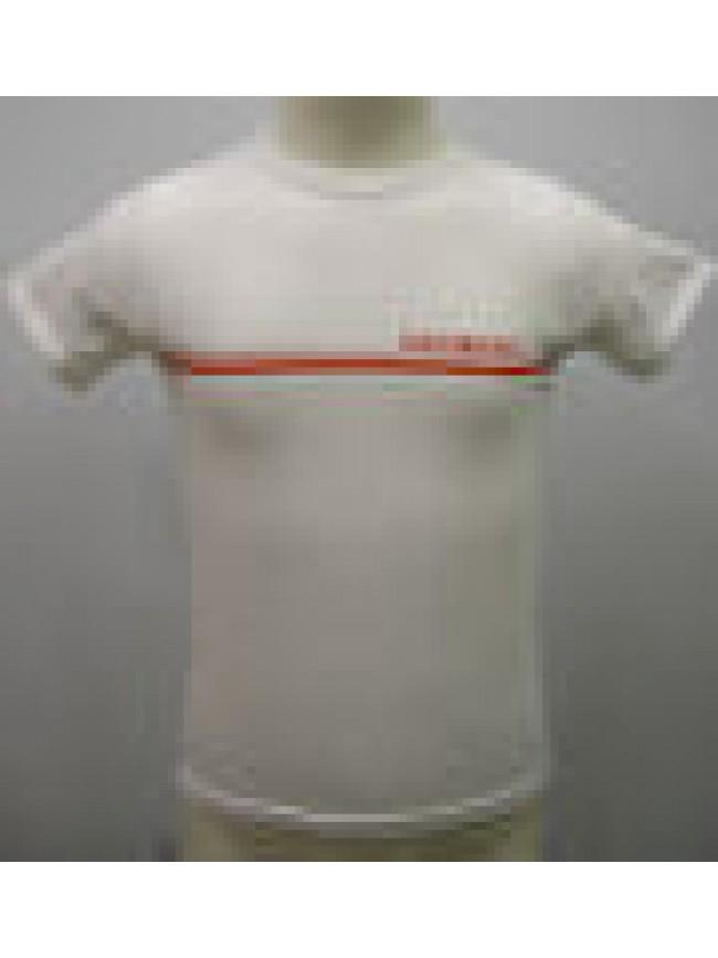 T-SHIRT MAGLIETTA BOY KID BIKKEMBERGS ART.S223 T42 T.10 ANNI C.1100 BIANCO WHITE