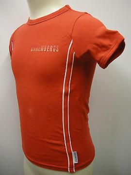 T-shirt bambino bimbo boy BIKKEMBERGS S245 T41 T.4 anni years c.4000 rosso red