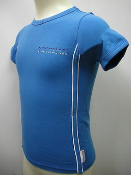 T-shirt bambino bimbo boy BIKKEMBERGS a.S245 T41 T.6 anni years c.3300 azzurro