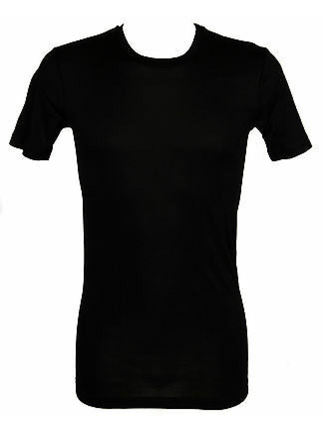 T-shirt cotone filo scozia uomo JULIPET a.600737 taglia 3/M col.020 NERO