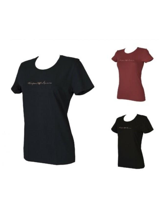 T-shirt donna manica corta girocollo maglietta elasticizzata EMPORIO ARMANI arti