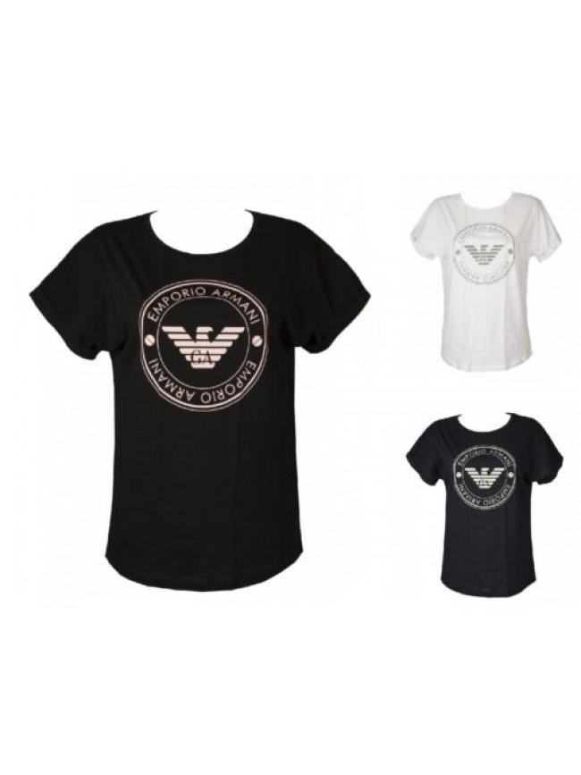T-shirt donna manica corta girocollo maglietta linea morbida EMPORIO ARMANI arti