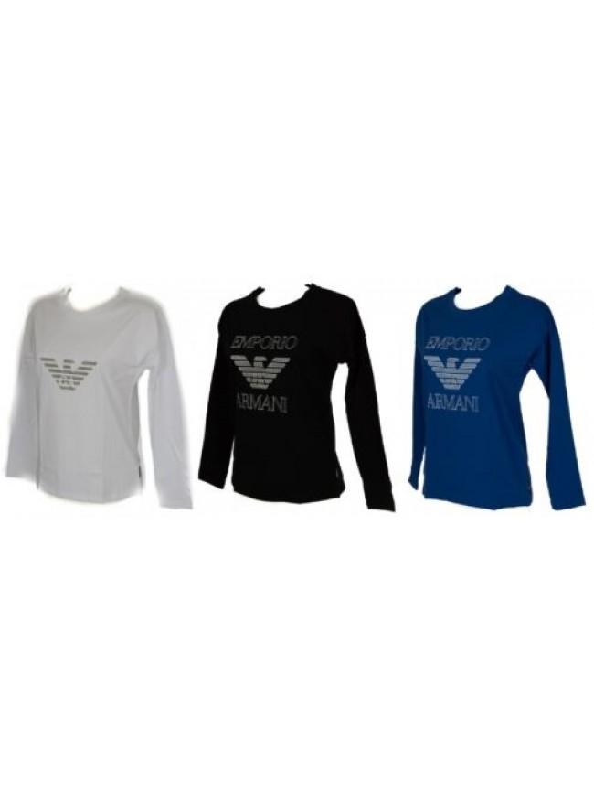 163763 Girocollo Lunga Shirt Donna Articolo Manica Armani Emporio T qwU8pH