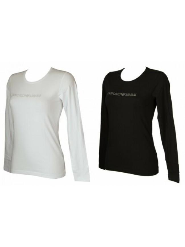 T-shirt donna manica lunga girocollo maglia EMPORIO ARMANI articolo 163229 0A263