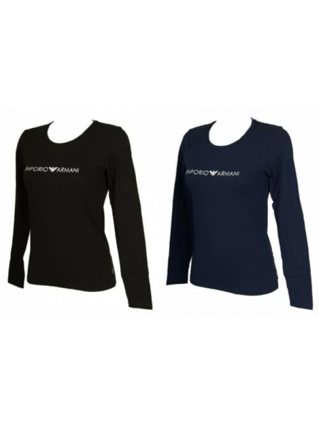 T-shirt donna manica lunga girocollo maglia EMPORIO ARMANI articolo 163229 8A317