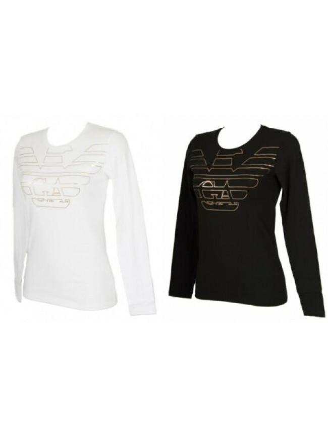 T-shirt donna manica lunga girocollo maglia EMPORIO ARMANI articolo 163229 9A232